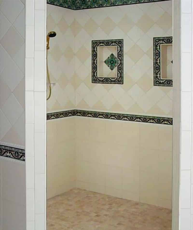 Bathroom Tile Border Image Of