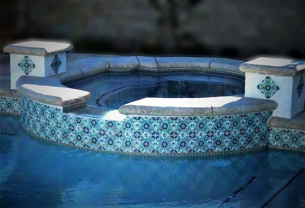 Hand Decorated Pool Tiles U0026 Pool Liners · Swimming Pool Liners