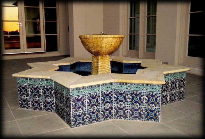 hand painted fountain tiles