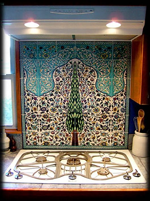 Cyprus Tree tile Backsplash